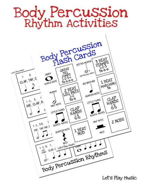 percussion rhythm activities let s play 627 | Bosy percussion rhythm activities image