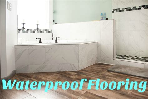 vinyl flooring for bathrooms ideas the best waterproof flooring options flooringinc