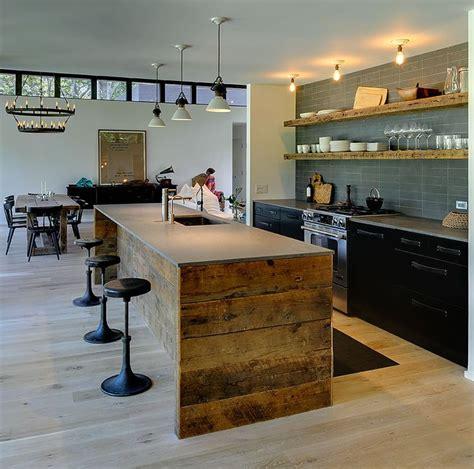 cuisine loft deco cuisine loft bois ins ideal mag