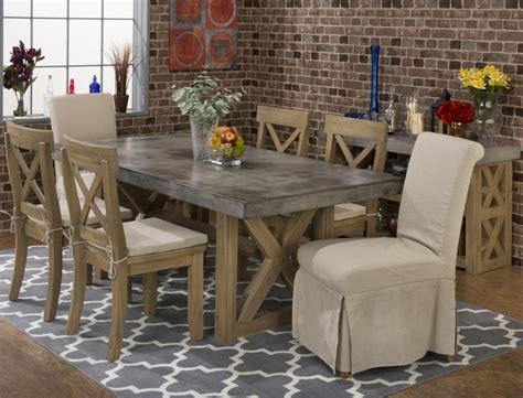 boulder ridge rectangle concrete dining table