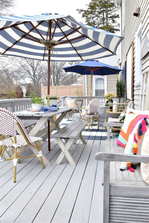 backyard deck remodel nesting with grace