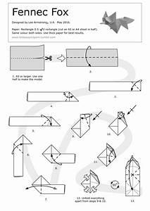 Foldaway Origami  U2014 Fennec Fox Wet Folded From A 10 5 X 29