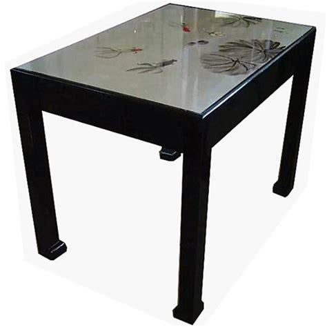 table salle a manger laquee table de salle 224 manger chinoise laqu 233 e argent 233 e mobilierdasie