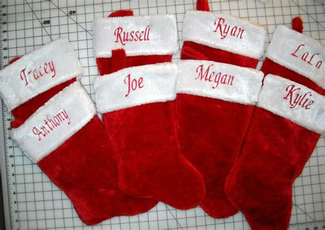 personalized christmas stocking custom  embroidered ebay