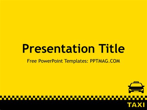 taxi powerpoint template pptmag