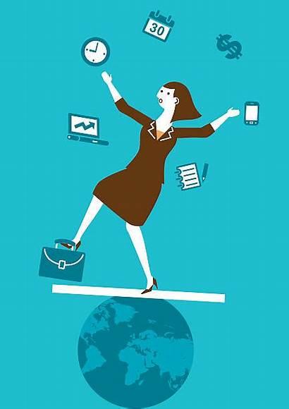 Juggling Clip Juggler Vector Multitasking Business Illustrations