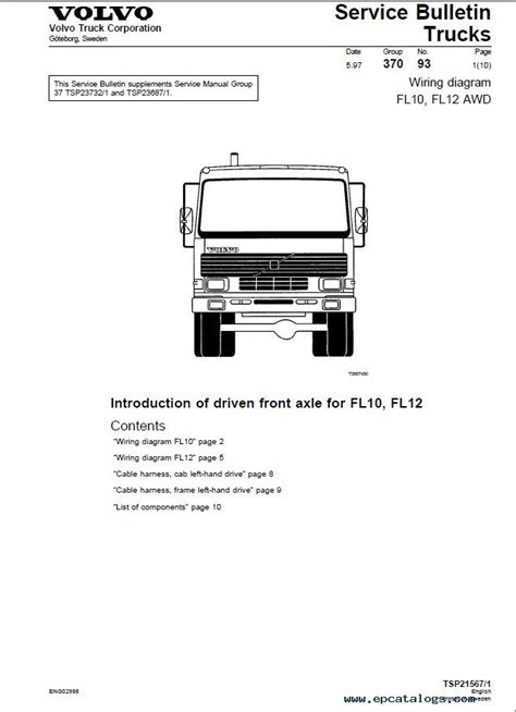 volvo trucks fl7 fl10 fl12 wiring diagram manual pdf