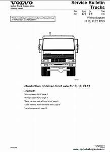 Volvo Fl Truck Wiring Diagram Service Manual June 2009