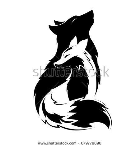fox  wolf silhouette projects     wolf