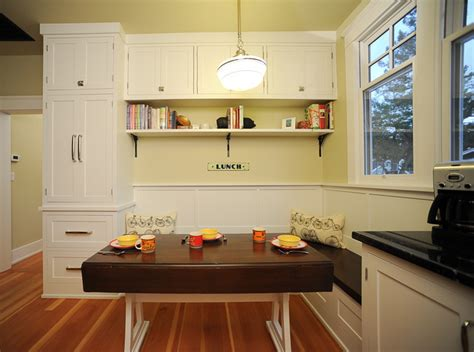 seating area  drop leaf table traditional kitchen