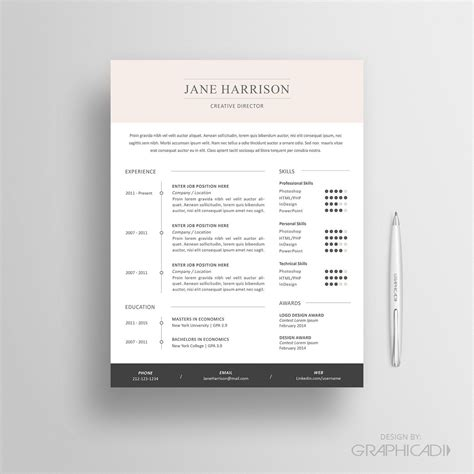 resume template cv template and cover letter reference