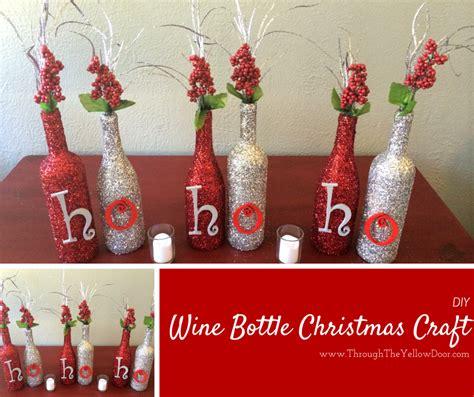through the yellow door wine bottle christmas craft