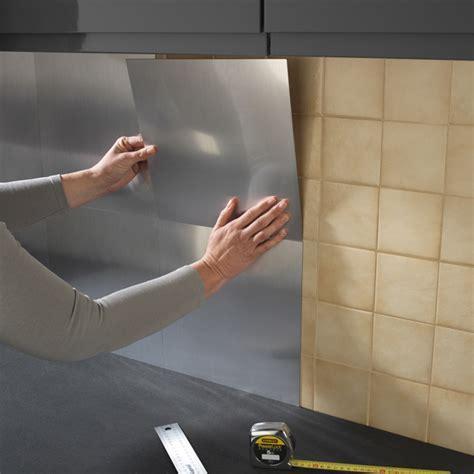 plaque cuisine inox revetement mural cuisine adhesif 10 plaque inox cuisine