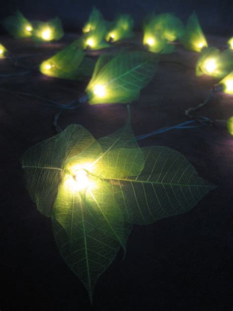 green flower led lantern string lights home