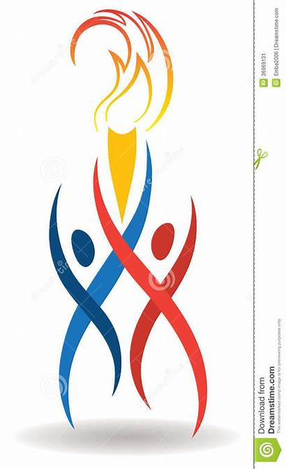 Sports Flame Flamme Olympic Torch Athletes Fiamma
