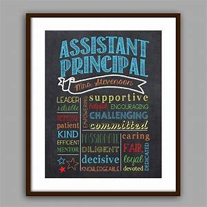 Navy Counselor Assistant Principal Gift Assistant Principal Chalkboard