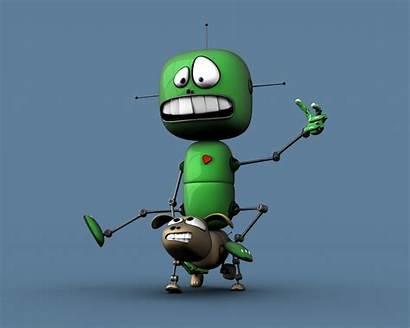 Funny 3d Cartoon Wallpapers Desktop Characters Robot