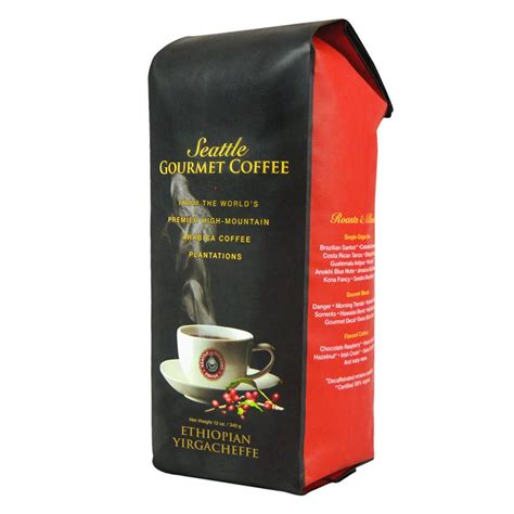 Known for its sweet flavor and aroma with a light to medium body. Ethiopian Yirgacheffe (Medium Roast) - Seattle Gourmet Coffee