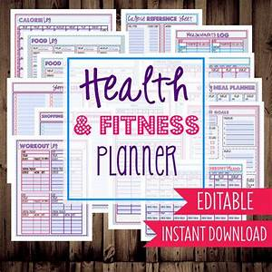 Weight Loss Countdown Chart Fitness Tracker Health Planner Pdf Printable Fitness
