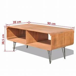 Meuble Tv 90 Cm : acheter vidaxl meuble tv 90 x 39 x 38 5 cm bois marron pas cher ~ Teatrodelosmanantiales.com Idées de Décoration