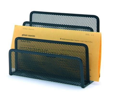 Office Supplies Paper Holder by Wholesale Metal Mesh Letter Rack Office Supplies Paper