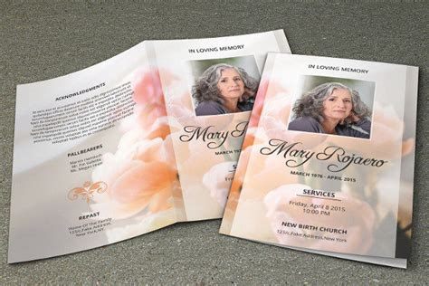 obituary program template 27 funeral program templates psd ai eps vector format