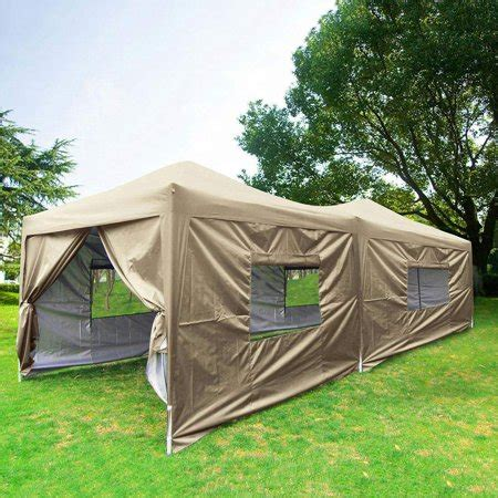 upgraded privacy  ez pop  canopy tent instant large party tent  sidewalls mesh windows