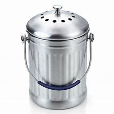 Cook N Home Stainless Steel Kitchen Compost Bin, 1gallon