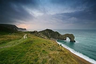 Door Durdle Dorset England Coast Shore Sea
