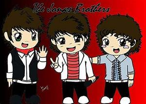 JONAS BROTHERS CARTOON | They look cute even as dolls!