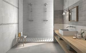 carrelage de salle de bain contemporain aspect beton With carrelage mural de salle de bain