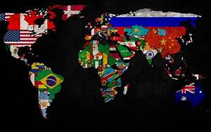 World Map Country Flag WorldFlag Canvas
