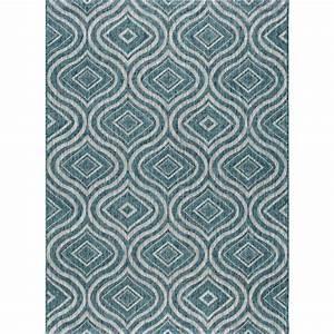tayse rugs veranda aqua 8 ft x 10 ft indoor outdoor area