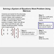 How To Solve A System Of Equations Word Problem Using Matrices Youtube