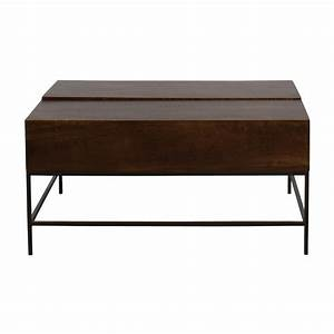 White accent table coupon code for West elm industrial storage coffee table