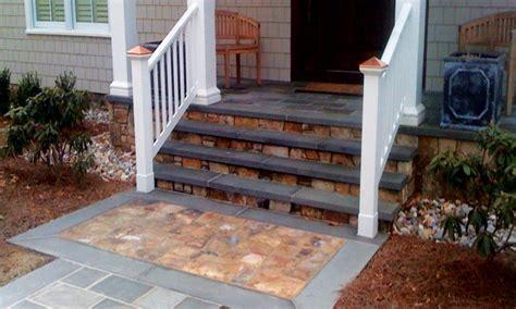 Stone patios, concrete front porch step ideas front steps