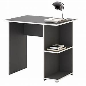 Schreibtisch Weiß Grau : schreibtisch kuba in grau wei mit 2 ablagef chern caro m bel ~ Frokenaadalensverden.com Haus und Dekorationen