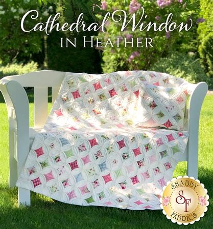 shabby fabrics cathedral window cathedral window in heather quilt pillow pattern