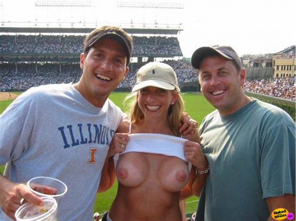 #Naughty #Amateur #Flashing #Her #Big #Tits #At #A #Baseball #Game