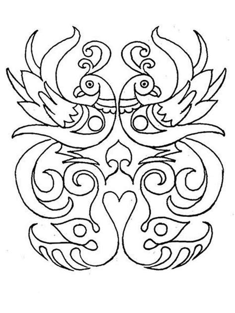 rangoli coloring pages  adults  printable rangoli coloring pages