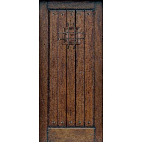 china  panel knotty alder wood prehung front door