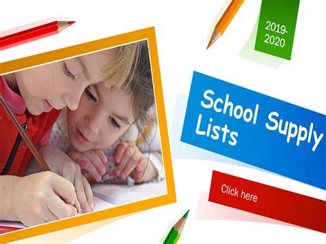 school supply lists news van butler elementary