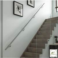 wall mounted handrail Details about Stairs Wall Mounted Handrail Full Kit in ...