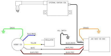Wiring Diagram 2 Stroke Scooter by Stock Hobbit Cdi W Jog Box Wiring Diagram Moped Army
