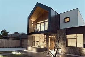 maison contemporaine avec eclairage exterieur With eclairage exterieur facade maison