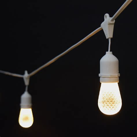 string lights sun warm white led commercial string lights 21 white cord