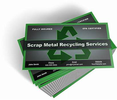Scrap Metal Business Cards Template Card Recycling