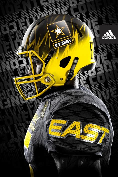 adidas unveils slick army  american bowl uniforms