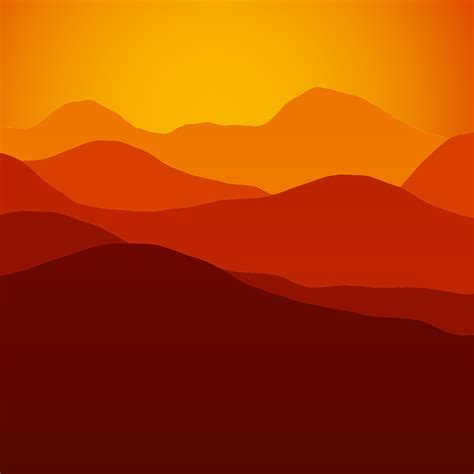 landscape mountains silhouette  vector graphic