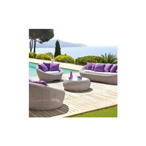 Salon De Jardin Java Gris Clair  6 Places  En Résine